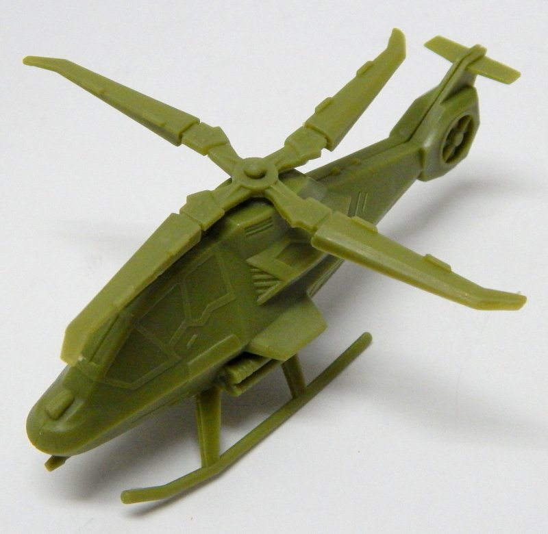 Image 1 of Modern Sci-Fi Style HO Scale Green Plastic Attack Helicopter