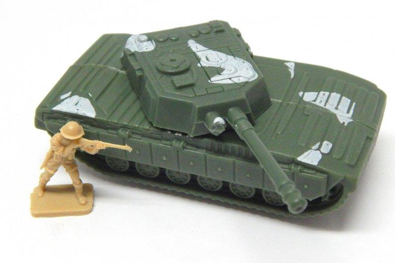 Image 0 of Abrams Style HO Green Plastic U.S. Army Modern Tank