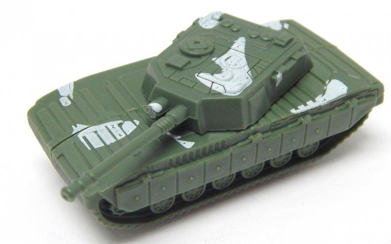 Image 1 of Abrams Style HO Green Plastic U.S. Army Modern Tank