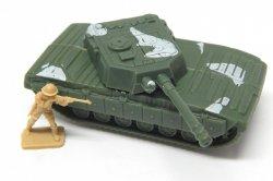 Abrams Style HO Green Plastic U.S. Army Modern Tank