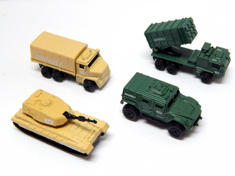 Image 0 of True Heroes Sentinel 1 1/64 Military Vehicles 4 Piece Set