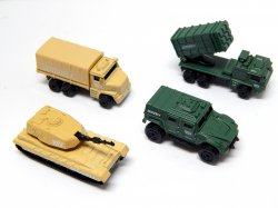 True Heroes Sentinel 1 1/64 Military Vehicles 4 Piece Set