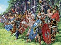 Zvezda 1/72 Scale Ancient Gallic Infantry Figures Set 8012
