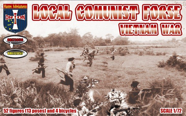 Image 0 of Orion 1/72 Vietnam War Local Communist Force Figures Set 72056
