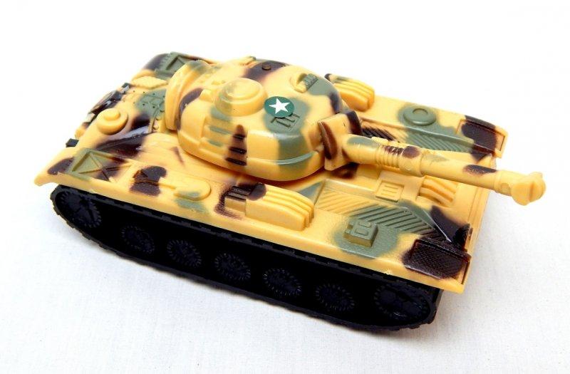 Image 0 of Russian Style T-54 Desert Camo Plastic Tank