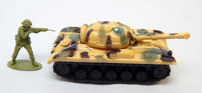 Image 2 of Russian Style T-54 Desert Camo Plastic Tank