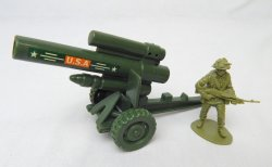 US Army 155mm Howitzer Style Plastic Heavy Artillery Cannon