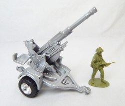 Modern Style Silver Anti Aircraft Artillery Gun
