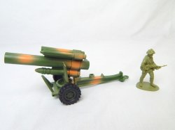 US Army 155mm Style Howitzer Camo Hard Plastic Cannon