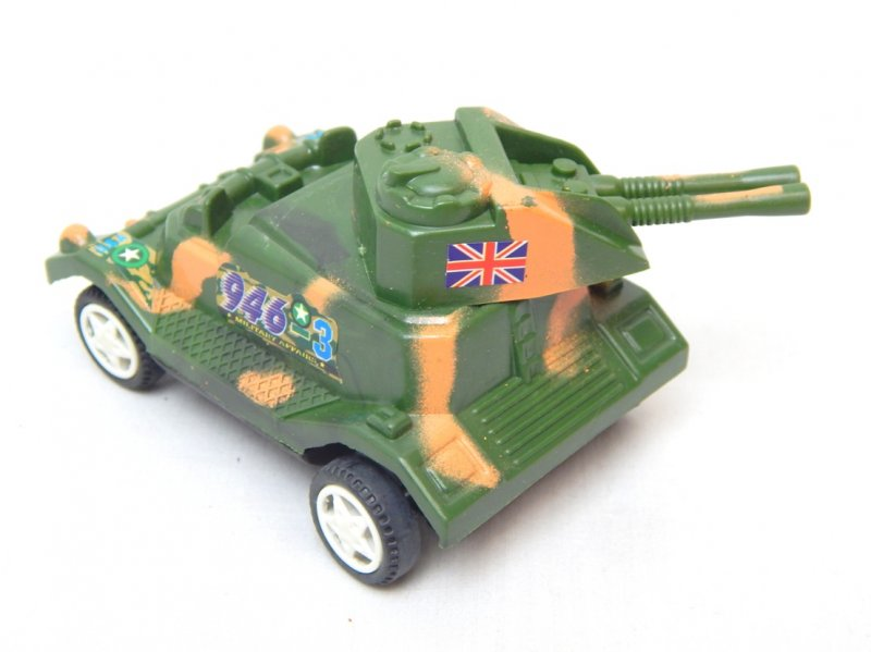 Image 1 of WWII Modern Twin Guns Armored Wheeled Car 946