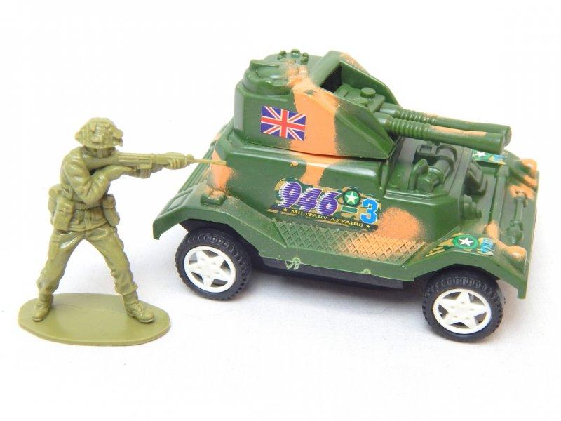 Image 2 of WWII Modern Twin Guns Armored Wheeled Car 946
