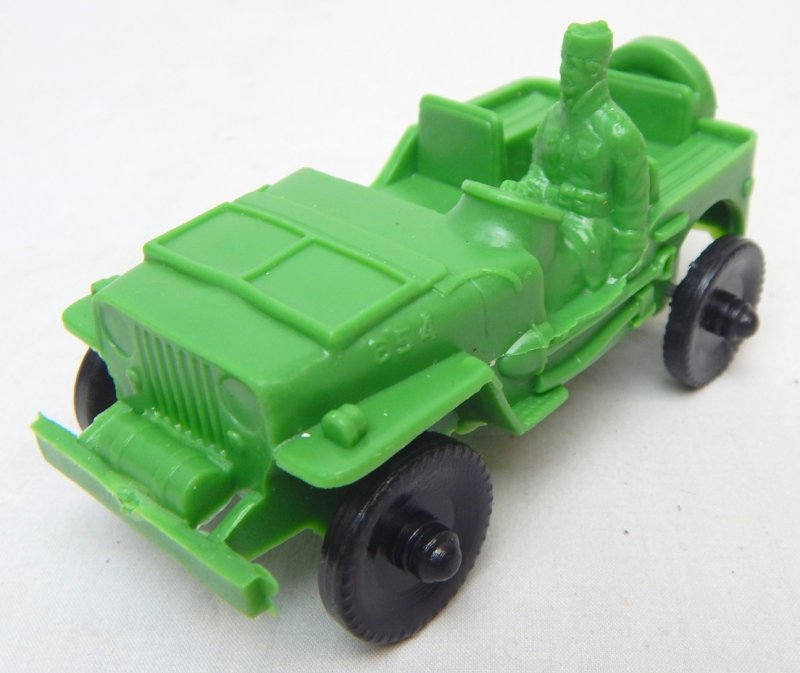 Image 1 of LIDO Style Green Plastic Army Jeep