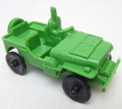 LIDO Style Green Plastic Army Jeep
