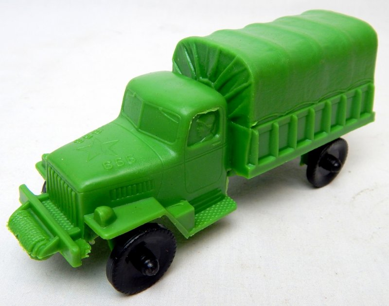 Image 0 of U.S. Army Green Plastic Troop Truck Lido Style
