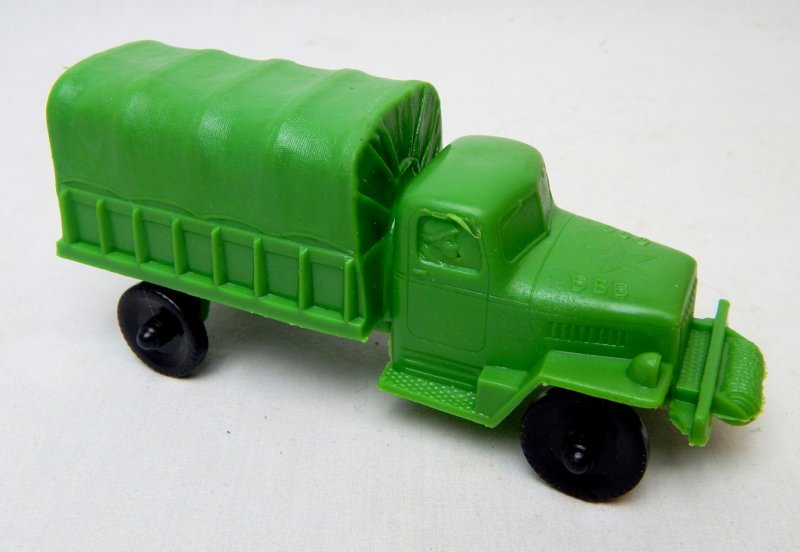 Image 1 of U.S. Army Green Plastic Troop Truck Lido Style