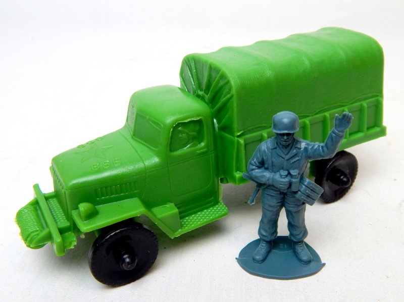 Image 3 of U.S. Army Green Plastic Troop Truck Lido Style