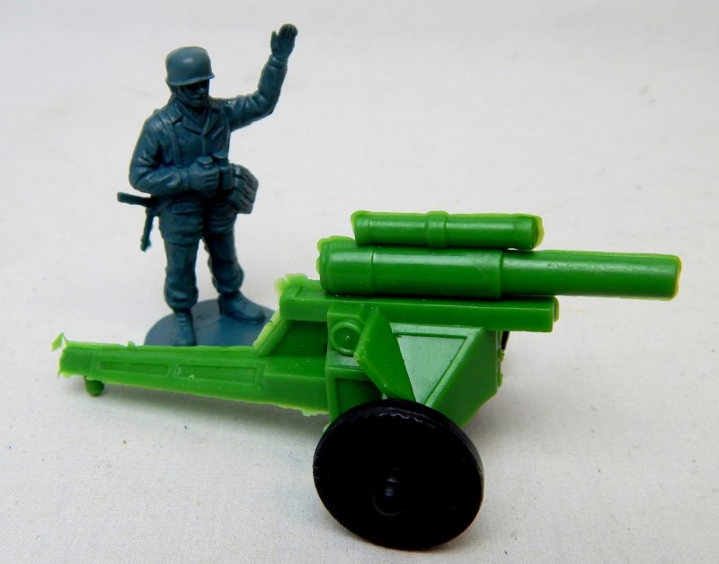 Image 2 of U.S. Army WWII Style Green Plastic Howitzer Cannon Lido Style