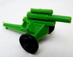 U.S. Army WWII Style Green Plastic Howitzer Cannon Lido Style