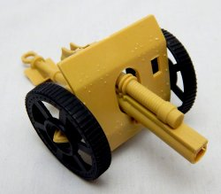 WWII Type Army Cannon With Armor Plated Front Tan Plastic