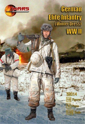 Image 0 of Mars 1/32 WWII German Elite Infantry Winter Dress Soldiers Set 32014