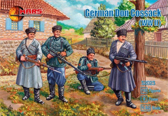 Image 0 of Mars 1/32 WWII German Don Cossack Soldiers Set 32023