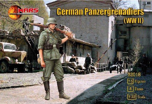 Image 0 of Mars 1/32 WWII German Panzergrenadiers Soldiers Set 32018