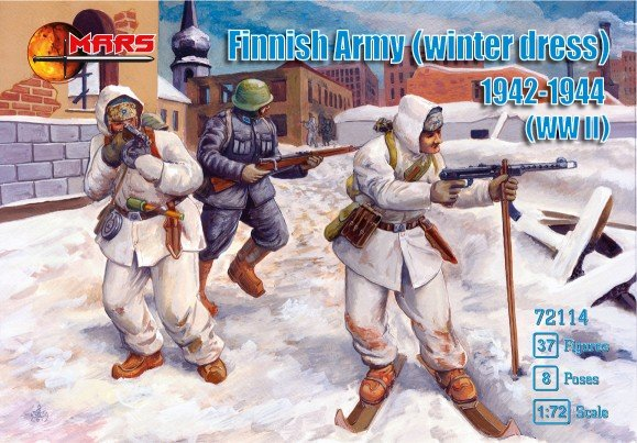 Image 0 of Mars 1/72 WWII Finnish Army Winter Dress 1942-44 Soldiers Set 72114