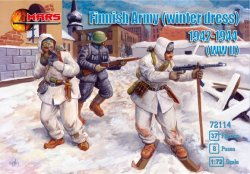Mars 1/72 WWII Finnish Army Winter Dress 1942-44 Soldiers Set 72114