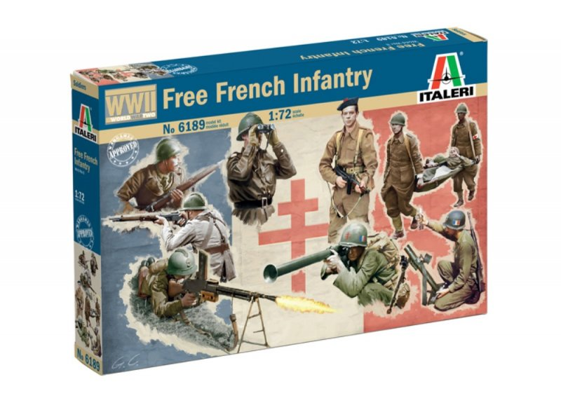 Image 0 of Italeri 1/72 WWII Free French Infantry Soldiers Set 6189