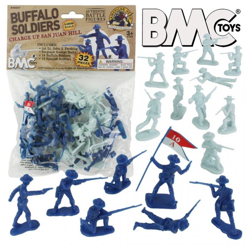 Image 0 of BMC 54mm San Juan Hill Buffalo Soldiers Figure Playset