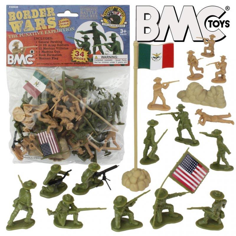 Image 0 of BMC 54mm Border Wars US Army & Mexican Villistas Figure Playset