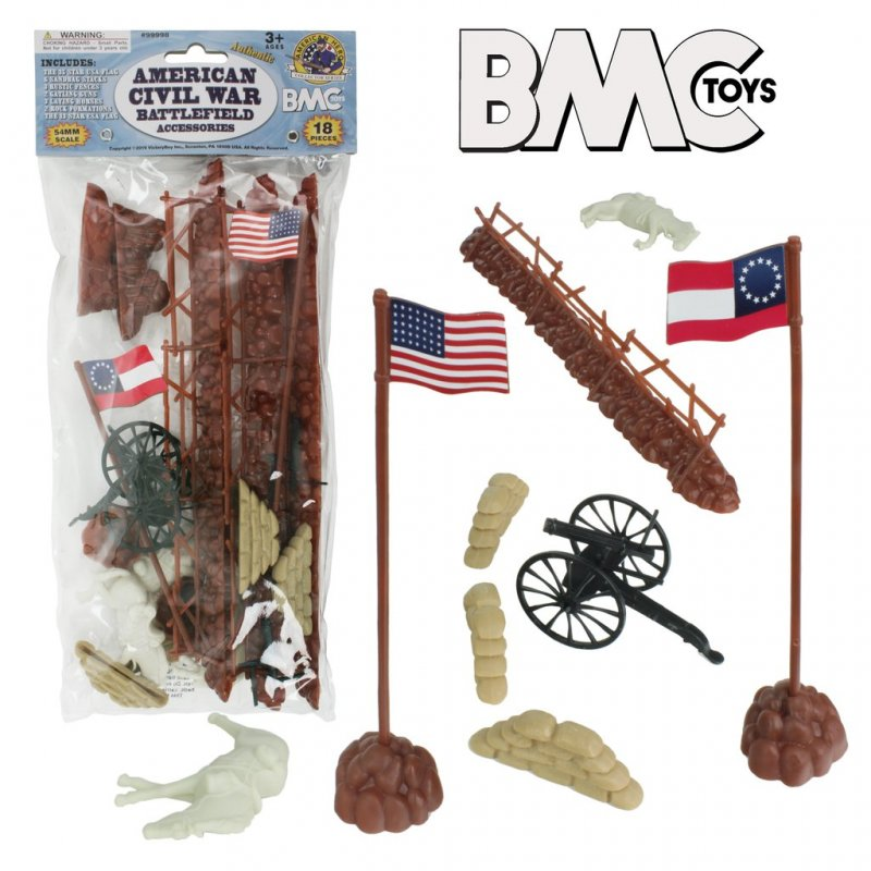 Image 0 of BMC Toys 54mm American Civil War Battlefield Accessories Set