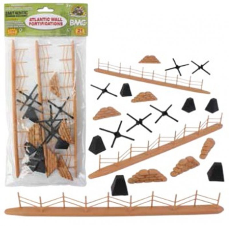 Image 0 of BMC Toys 54mm WWII Atlantic Wall Fortifications Set 99999