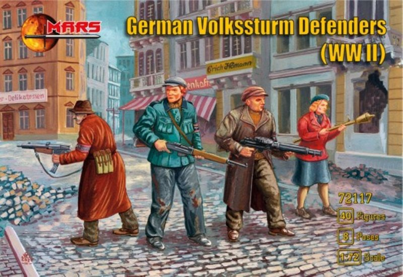 Image 0 of Mars 1/72 WWII German Volksstrum Defenders Figures Set 72117