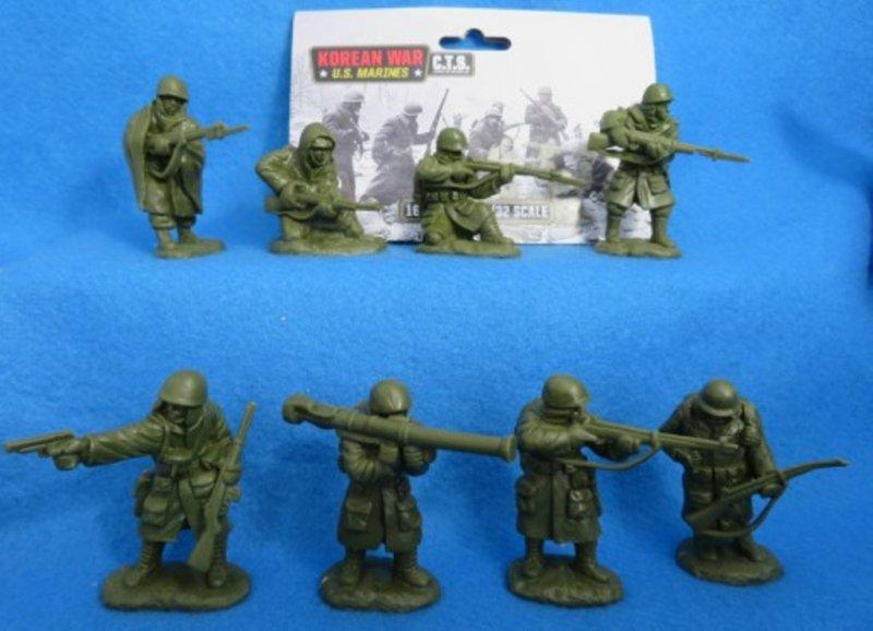 Image 0 of Classic Toy Soldiers 1/32 Korean War U.S. Marines Set 180