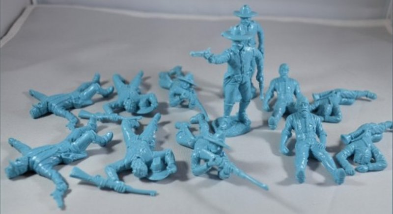 Image 0 of TSSD ACW Union Cavalry Dismounted w/Casualties Plastic Soldiers Set 17A
