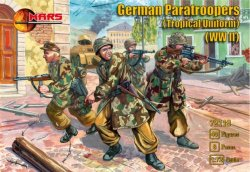 Mars 1/72 World War II German Paratrooper Tropical Uniform Soldiers 72119