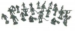 Marx Recast Plastic 25 Figures Air Force Green Personnel Set