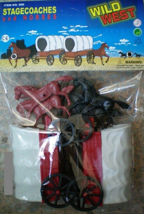 Image 0 of American Western Wagons And Horses Pair Set