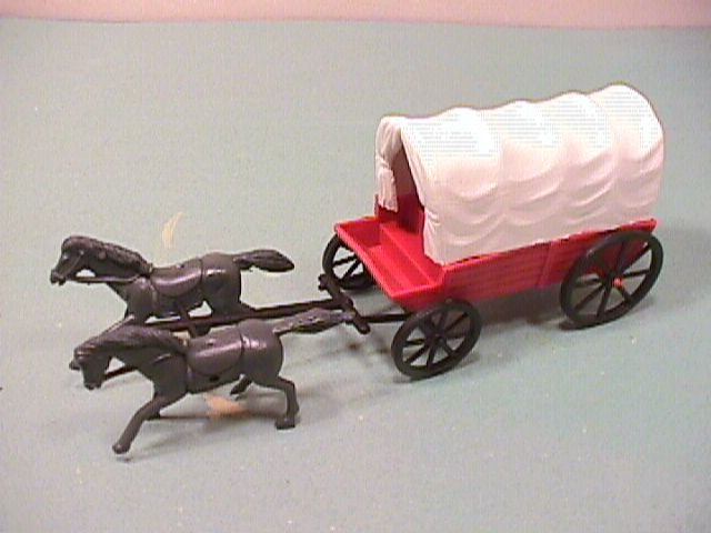 Image 1 of American Western Wagons And Horses Pair Set