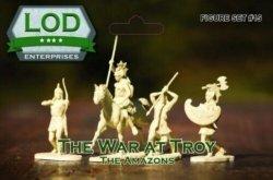 LOD 1/32 54mm THE AMAZONS Fantasy Plastic Women Figures Set 15