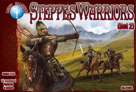 Image 0 of Dark Alliance 1/72 Steppes Warriors MTD Set 2 Figures Set 72052