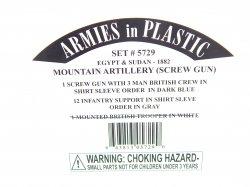 Armies In Plastic 1/32 Egypt & Sudan Mountain Artillery - 1882 Set 5729