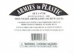 Armies In Plastic 1/32 Egypt & Sudan Mountain Artillery 1885 Combo Set 5730