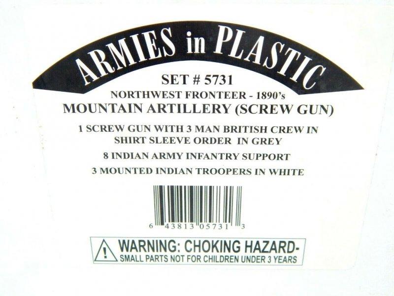 Image 0 of Armies In Plastic 1/32 Northwest Frontier Mountain Artillery 1890 Combo Set 5731