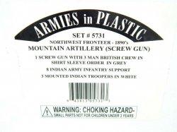 Armies In Plastic 1/32 Northwest Frontier Mountain Artillery 1890 Combo Set 5731