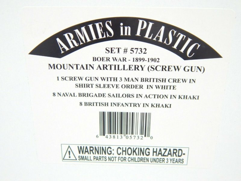 Image 0 of Armies In Plastic 1/32 Boer War Mountain Artillery 1898 To 1900 Combo Set 5732