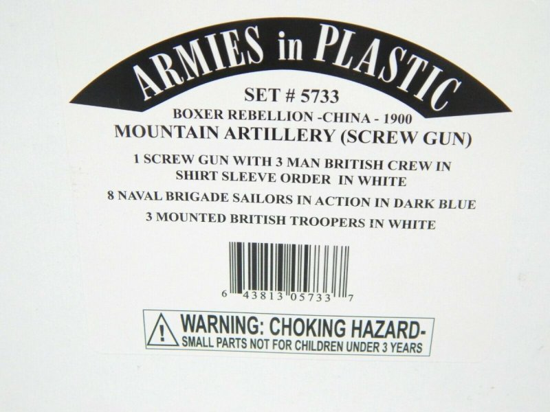 Image 0 of Armies In Plastic 1/32 Boxer Rebellion China Mountain Artillery Combo Set 5733