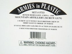 Armies In Plastic 1/32 Boxer Rebellion China Mountain Artillery Combo Set 5733