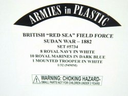 Armies In Plastic 1/32 British Red Sea Field Force Sudan War Combo Set 5734